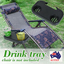 Portable Foldable Camping Picnic Outdoor Beach Garden Chair Side Tray For Drink