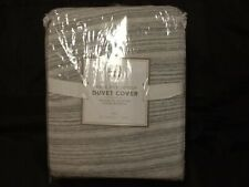 Pottery Barn Teen Space Dye Jersey Duvet Cover Gray Twin New