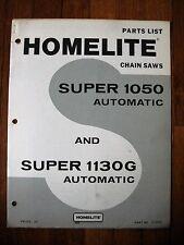 Homelite Super 1050 1130G Automatic Chain Saw Parts list