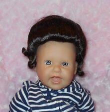 Kemper GIBSON Wig 6/7~DARK BROWN~Full Cap~Modacrylic Hair~Bun/Curly Ponytail NWT
