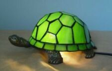 Tiffany Style Table Lamp Art Turtle Handcrafted Light Glass Stained Bedside Desk