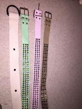 4 cinturones señoras tela empedrada Aqua Crema Rosa Marrón 10 12 14?
