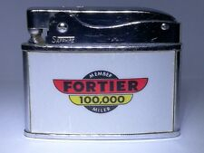Flat Advertising Lighter Fortier 100,000 RARE Made In Japan