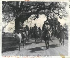 1975 Press Photo Carnival Maskers on Horses in Mamou, Louisiana on Mardi Gras