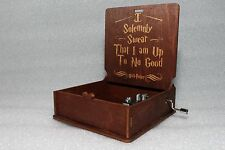 I Solemnly Swear That I Am - Harry Potter Music Box - Hand Crank Engraved Wooden