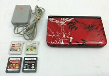 Nintendo 3DS XL Pokemon X and Y Edition XY Handheld Red with 4 games