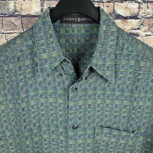 JHANE BARNES Mens Multicolor Abstract Button Down Club Shirt Sz Medium M Retro