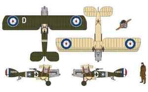 CORGI AA28801 Bristol F2B Fighter D-8063, RAF No.139 Squadron, Villaverla, 1:48