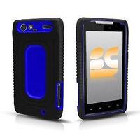 Black Blue Rubber IMPACT Duo Shield Hard Case Phone Cover Motorola DROID RAZR