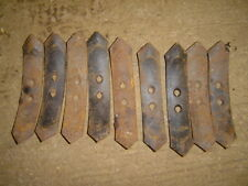 David Brown Cultivator Points x9items 2inch wide approx 1 1/2 inch hole centres