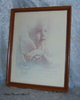 "Beautiful Framed Signed Print of A Little Boy Holding an Adult Hand 15"" x 12"""