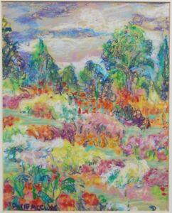Signed David McClure Oil Pastel Painting Listed Scottish Artist RSA RSW Landscap