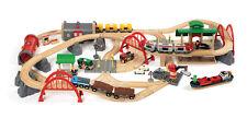 BRIO 33052 Deluxe Wooden Railway Set  Age 3-5 Years / 87 pcs
