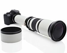 Opteka 650-1300mm (con 2x - 1300-2600mm) Lente zoom telefoto para Nikon DSLR
