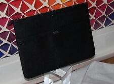 NWT Giorgio Armani Men's Black Leather Zip-Top Clutch Wallet - Authentic