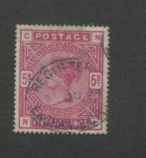 1884 Great Britain Stamp #108 5sh Used Very Fine Register Exchange Postal Cancel