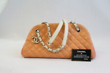CHANEL Sac Rabat Henkeltasche Leder Orange (CH176)