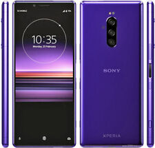 "Sony Xperia 1 J9110 PURPLE Dual-SIM 6/128GB 6.5"" OLED 4K HDR IP68 Phone ByFedEx"