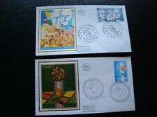 FRANCE - 2 enveloppes 1er jour 1975/76 (picardie/indep etats-unis) (cy78) french