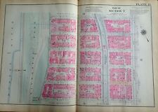 1921 UPPER WEST SIDE RIVERSIDE PARK W100 - W105 MANHATTAN NY PLAT ATLAS MAP