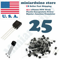 25pcs 2N2222A NPN 2N2222 TO-92 Plastic-Encapsulate Power Transistors 40V ECB