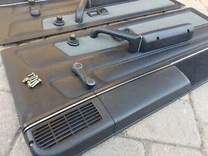 Volkswagon VW Rabbit Cabriolet MK1 OEM Front Door Panel Set *Complete* '87-93