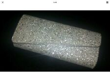 Sparkly Dorothy Perkins Silver & Gold Glitter Clutch Bag.  (18)