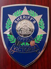 Victoria Australia Sheriff metal badge patch Australia  (not police)