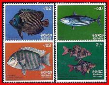 SRI LANKA'72 OCEAN FISH SC#473-76 MNH MARINE LIFE (D02) , UNDERSTAND?