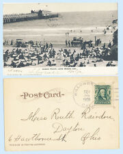Ocean Front Pier Long Beach California 1906 Udb Postcard - Horse & Buggy Doane