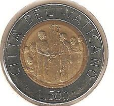 Città del Vaticano 500 Lire 1994  bimetallica/perfetta