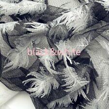 Fleuri Burnout reflets velours en relief Lurex Nylon Robe Tissu 140 cm MR1376