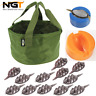 NGT INLINE METHOD FEEDERS AND MOULDS GROUNDBAIT BOWL FOR CARP FISHING BAITS