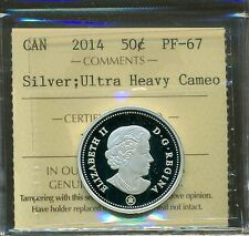 Canada 2014 Silver 50 cent ICCS PF 67 UHC