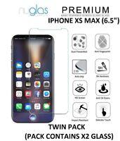 2 X Nuglas Protection D'Écran Premium en Verre Trempé pour Apple Iphone XS Max