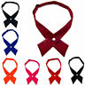 1pc Solid Color Unisex Crossover Bow Tie Necktie for Business Wedding Party