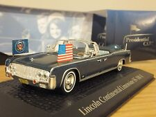 ATLAS NOREV LINCOLN CONTINENTAL LIMO US PRESIDENT JFK CAR MODEL 1:43 2696601