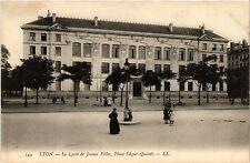 CPA Lyon-Le Lycée de Jeunes Filles, Place Edgar-Quinet (426440)