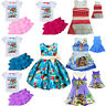 Dress Costume Girls Deluxe Moana Disney Hawaiian Princess Fancy Cosplay Outfit
