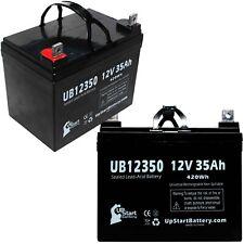 2-pack Yamaha Rhino Battery UB12350 12V 35Ah Sealed Lead Acid SLA AGM