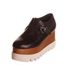 RRP €140 JEFFREY CAMPBELL Leather Platform Shoes Size 38 UK 5.5 US 8 Polished