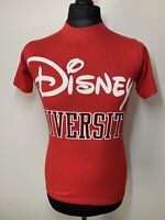Disney University Casuals Vintage Retro Red T-Shirt Tee S Small RARE