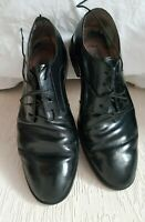 CLARKS MEN BLACK LEATHER LACE UP SHOES, SIZE UK8G CONDITION USED