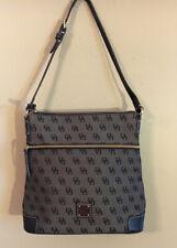 Dooney Bourke Black Monogram Canvas/ Shoulder Bag/ Handbag