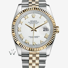 Solid Gold Strap Mechanical (Automatic) Round Wristwatches