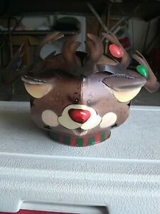 Reindeer Christmas Candle Shade Topper