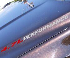 4.7L PERFORMANCE decals Jeep Grand Cherokee WJ 99 - 09 fender hood sticker turbo