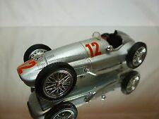 BRUMM MERCEDES BENZ W154 1939 RACE CAR - No 12 - F1 SILVER 1:43 - GOOD (3)