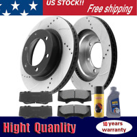 Front E-Coating Black Brake Rotors & Brake Pads for Toyota 4Runner Tacoma 6 Lug