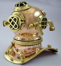 Brass Nautical Diving Helmet - 6 inches Ball (6.89 x 7.09 x 7.48in)